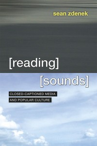 book cover for Reading Sounds by Sean Zdenek